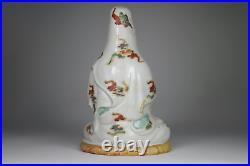 Antique Japanese c1900 Meiji Period Kutani Kannon Guanyin Figure Porcelain