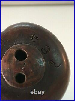 Antique Japanese carved boxwood Netsuke of Meiji period Glass Eyes-Signed