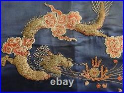 Antique Japanese embroidered silk fukusa, Meiji period (1868-1912) 26 x 15