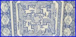 Antique Meiji Period Japanese Blue & White Transferware Octagonal Plate