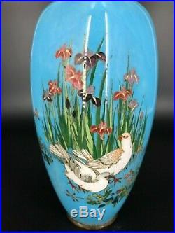 Antique Meiji Period Japanese Cloisonne Enamel Vase