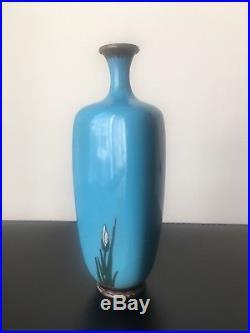 Antique Meiji Period Japanese Cloisonne Floral Vase