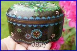 Antique Meiji Period Japanese Multi-Color Cloisonné Dresser / Trinket Box
