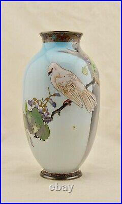 Antique Namikawa Sosuke 12 Meiji-Period Japanese Cloisonne enamel baluster vase