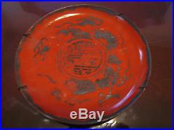 Antique Signed Japanese Meiji Period Eiraku Porcelain Pair of Plates