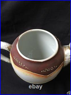 Antique tea set Japanese Meiji Period SATSUMA Pottery. Marked