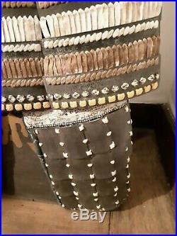 Beautiful Antique Japanese Samurai armor YOROI Mumei (est. EDO or Meiji period)