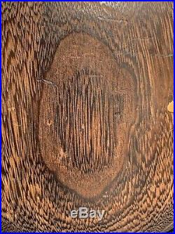 Beautiful Circa 1910 Japanese Meiji Period Kiri Wood Hibachi Brazier With Inlay
