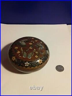 Beautiful Japanese Meiji Period Cloisonne Large Box 3.5