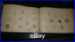 Beautiful Japanese possible Period meiji edo with all family mon kabuto book ant
