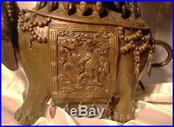Bronze sahumador perfumer incense burner elephant pagoda japanese meiji period