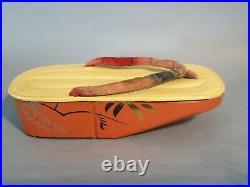 Ceremonial footware Meiji Period Japanese shoes laquer geta shoes geisha japan