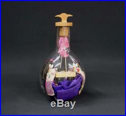 Curiosity Japanese Antique Kimono Dolls Play Game in a Glass Bottle Meiji Period