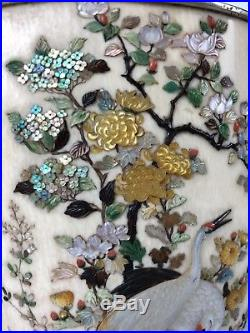 Fine 19th C. Century Japanese Meiji Period Shibayama Enamel Silver Koro Signed