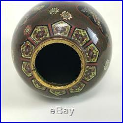 Fine Antique Japanese Meiji Period Cloisonne Vase