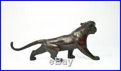 Fine Japanese Bronze Okimono of a Tiger Meiji period