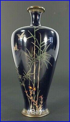 Fine Japanese Cloisonne Late 19th c. Meiji Period Miniature Vase Ota or Namakawa