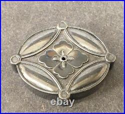 Fine Japanese Meiji Period Sterling Silver Water Dropper