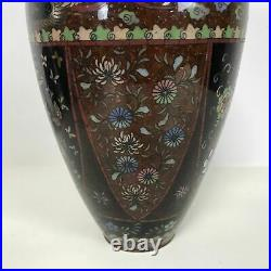 Fine Large Antique Japanese Meiji Period Cloisonne Vase 12