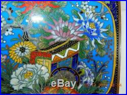 Fine quality Antique Japanese Meiji period Cloisonne box & cover signed Inaba