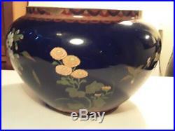 HUGE Antique Japanese Cloisonne Planter Vase Jardiniere Meiji Period
