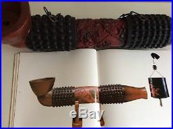 JAPANESE ANTIQUE TOBACCO KISERU SHOP SIGN KANBAN / W 14× 67.5cm MEIJI PERIOD