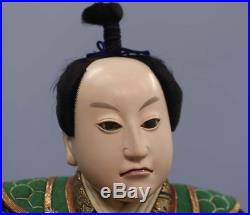 Japanese Antique Armed Samurai Doll Meiji Period 17