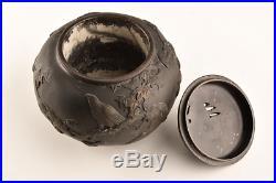 Japanese Antique Oshima Joun Bronze Incense Burner Meiji Period