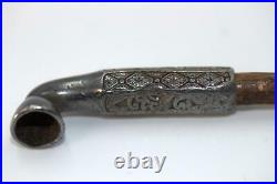 Japanese Antique Silver & Bamboo kiseru Meiji Period KIBC59