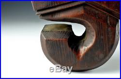 Japanese Antique Wooden Jizai Kagi Pothook 7 Meiji Period