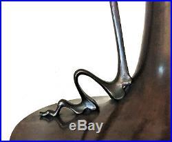 Japanese Art Nouveau Monumental Patinated Bronze Vase, Meiji Period, ca. 1900