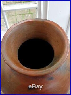 Japanese Bizen Ware Tsubo HUGE Vase Pot Edo Meiji Period