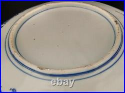 Japanese Blue and White Porcelain Large Charger Meiji Period
