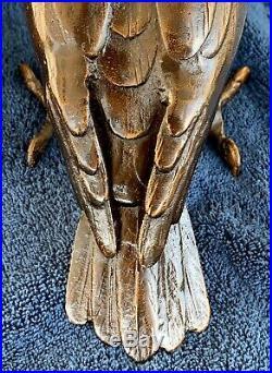 Japanese Bronze Parrot Meiji Period, Marked Japan, 3.4 lbs+ Solid Bronze