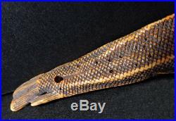 Japanese Carved Netsuke Fish Edo Meiji Period Bone Y30