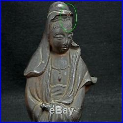Japanese Ceramic Kannon Goddess of Mercy Figure Meiji Period