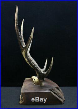 Japanese Katana Doble Swords Deer Horn Holder Meiji Period F/S Fr JP WithTracking