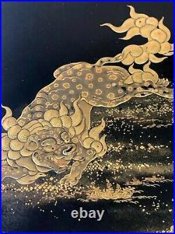 Japanese Lacquer Box with Fine Maki-e Decoration Meiji Period