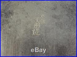 Japanese Meiji Period Bronze Onlaid Silver Gold Shakudo Peacock Vase