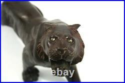 Japanese Meiji Period Bronze Tiger