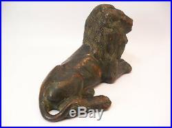 Japanese Meiji Period Cast Bronze Laying Lion Sculpture