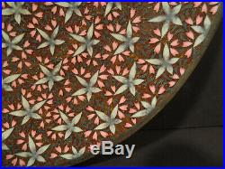 Japanese Meiji Period Cloisonne Plate with Floral Motif