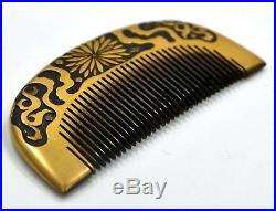 Japanese Meiji Period Gold Lacquer Kushi Comb