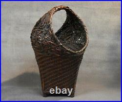 Japanese Meiji Period Ikebana Bamboo Basket