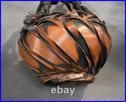 Japanese Meiji Period Ikebana Root Basket