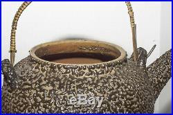 Japanese Meiji Period Satsuma Teapot with Jakatsu Glaze from Ryumonji Kilns 19 C