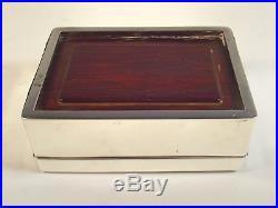 Japanese Meiji Period Silver Shibuichi Onlaid Box