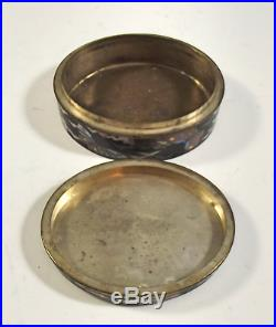 Japanese Meiji Period Silver Wire Cloisonne Enamel Box
