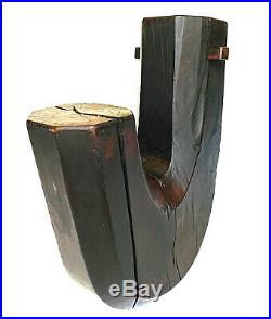 Japanese Meiji Period Wooden Jizai Kagi Pot Kettle Hook 22 x 7 OFFER
