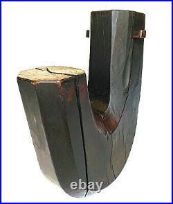 Japanese Meiji Period Wooden Jizai Kagi Pot Kettle Hook HOT DEAL